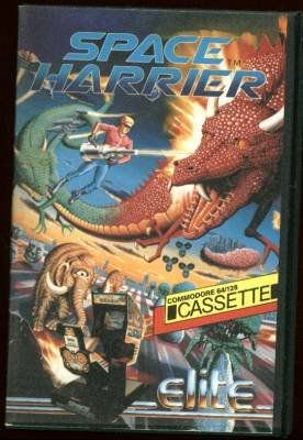 Space Harrier (cassette video game) Commodore 64/128k