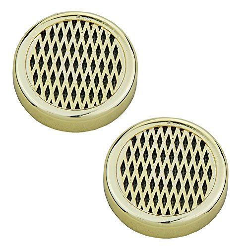 2pcs Golden redondo humidificador puros tabaco 57mm