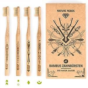 Nature Nerds – Bambus Zahnbürste im Set (4er Pack)