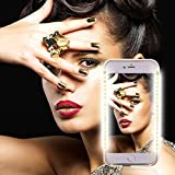 iPhone Selfie LED Phone Case,GSY Selfie LED Light Case for Iphone 6plus/6s plus/7plus/8 plus - For Cell Phone with Front and Back LED Rechargeable Backup (iphone 6 plus/6s plus/7 plus/8 plus, Gold)