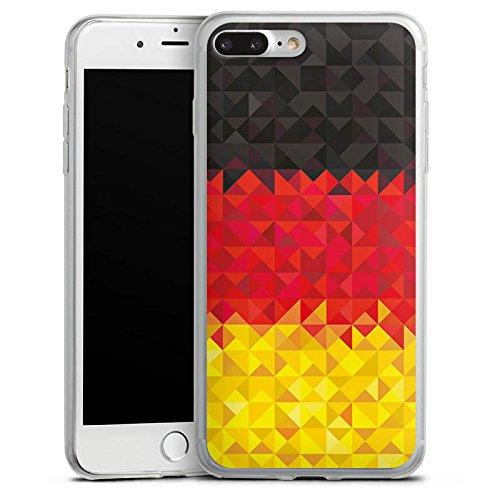 Apple iPhone X Slim Case Silikon Hülle Schutzhülle Deutschland Flagge Dreiecke Silikon Slim Case transparent