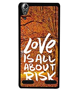 Fuson Designer Back Case Cover for Lenovo A6000 :: Lenovo A6000 Plus :: Lenovo A6000+ (Nature Chinar Trees Leaves Love Quotes)