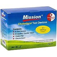 Preisvergleich für Swiss Point Of Care 3 in 1 Cholesterin Teststreifen und weiteres Messzubehör | 25 Teststreifen, inkl. 25 Kapillar...
