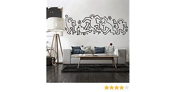 Adesivi Murali Keith Haring.Adesivo Murale Keith Haring Camera Dei Bambini Anime Nurserry Camera Da Letto Casa Decori Soggiorno Amazon It Fai Da Te