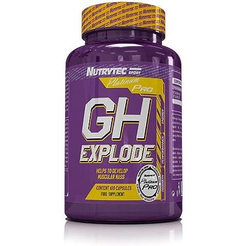 Nutrytec GH Explode Platinum Arginina Ornitina - 100 Cápsulas