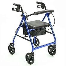 NRS Healthcare a-series 4-wheel rollator, girello – blu