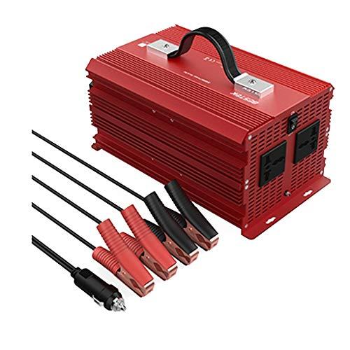 Hyzbpp 2000 Watt Wechselrichter 2 AC Steckdosen DC 12 V Zu 110 V AC Auto Stromrichter for Camping Outdoor Netzteil -