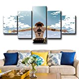 Canvas Painting 5 Piece Anime Posters Wall Pictures Modern Decorative for Living Room Home Decor SJDBF