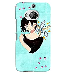 PRINTVISA Cute Girl Case Cover for HTC One M9 Plus
