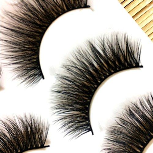 he Wimpern, ESAILQ 3 Paare lange falsche Wimpern Make-up natürliche gefälschte dicke schwarze Augenpeitschen (D) ()
