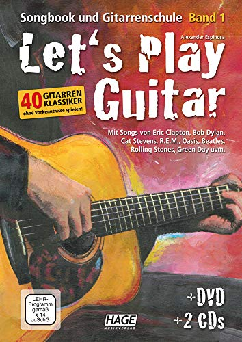 Let\'s Play Guitar: Songbook und Gitarrenschule + DVD + 2 CDs