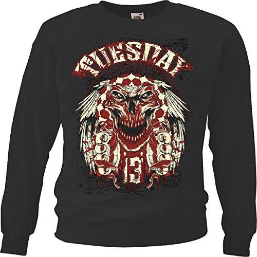 Reifen-Markt Sweatshirt Damen Motiv-600295 Größe 2XL Farbe Schwarz Druck 600295