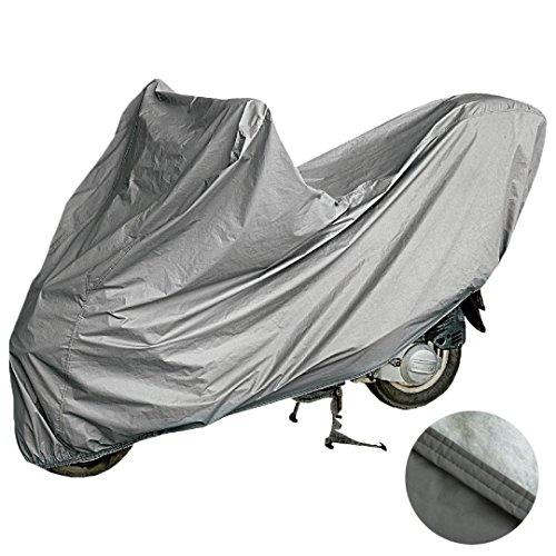 Telo coprimoto felpato sagomato in materiale impermeabile al 100% doppia cucitura ed elastico alle estremità per scooter e moto di varie misure (xl)