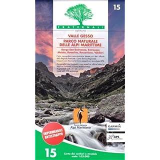 Piemont Wanderkare Bl. 15 Valle Gesso, Parco Naturale delle Apli Marittime / Seealpen, topographische Wanderkarte 1:25.000