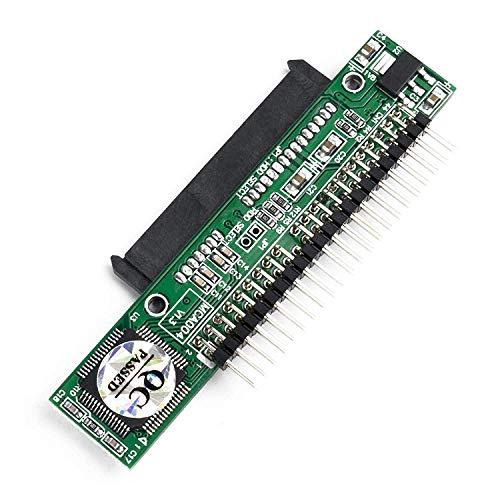 QNINE Adaptador SATA a IDE para computadora portátil, Convertidor de Disco Duro HDD Serial ATA de 2,5 Pulgadas o SSD a Puerto Pata Macho de 44 Pines (Tipo Paralelo)