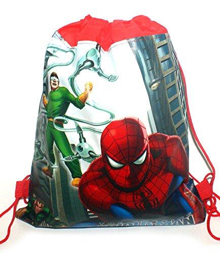 ENFANTS personnage de dessin animé double Impression Cordon de serrage PE à chaussures Sac de piscine Gym Chambre d'enfant Sac à dos Spiderman