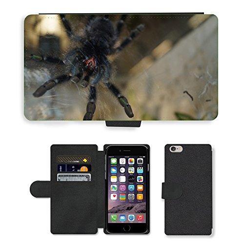 Just Mobile pour Hot Style Téléphone portable étui portefeuille en cuir PU avec fente pour carte//m00139692araignée Tarentule les mandibules Creepy//Apple iPhone 6Plus 14cm
