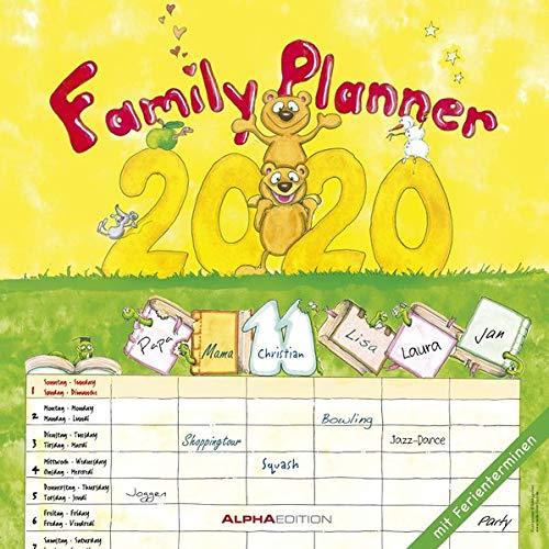 Familienplaner 2020 - Broschürenkalender (30 x 60 geöffnet) - Wandkalender - mit 6 Spalten - mit Ferienterminen - Wandplaner: by Silke Leskin