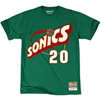 Mitchell & Ness Gary Payton #20 Seattle SuperSonics Name & Number NBA Tee Green