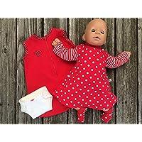 Puppenkleidung handmade KLEIDUNG Nachthemd + Schlafsack + Windel + Schühchen für Puppen Gr. 40- 45 cm ODER Gr. 46 - 48 cm Annabell Chou Lolle Bambina Baby Born Muffin