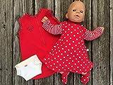 Puppenkleidung handmade KLEIDUNG Nachthemd + Schlafsack + Windel + Schühchen für Puppen Gr. 40- 45...