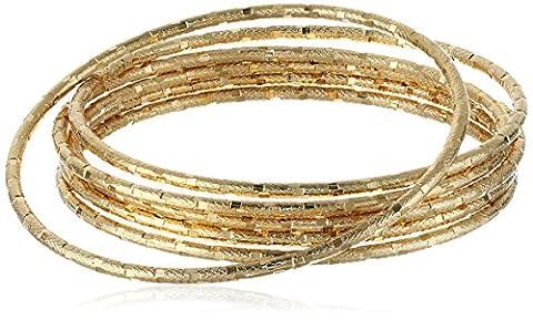 Panacea Gold Diamond Cut Bangle Bracelet