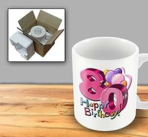 Happy Birthday Tasse–80ans–Femelle
