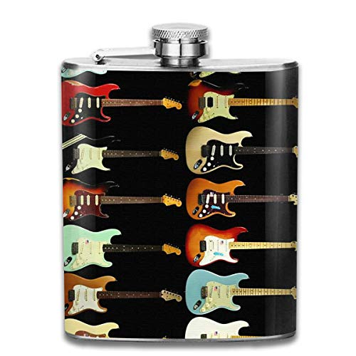 Drink Liquor Hip Flask Guitar Instrument Wine Pot Rum Container Flask Pocket for Unisex