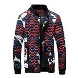 Kanpola Herren Jacken mit Reißverschluss Leichte Winddicht Winterjacke Sport Streetwear Camouflage Jacke Mantel