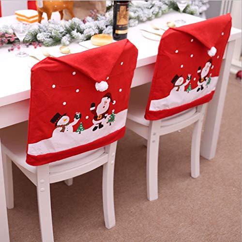 uhl Vliesabdeckung des Alten Stuhl Großhandel Hut Puppe Comic Christmas Set Sehr praktisch Feiertage und Geburtstage Mittelstücke Ornament Saisonale Deko/Weihnachten ()