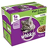 Whiskas 1+ Years Cat Pouches Fish and Meat Selection in Jelly, 12 x 100 g