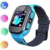 Jslai Smartwatch Kids Étanche avec Tracker LBS/GPS, Android Watch Compatible iOS Téléphone Intelligent pour Enfants 3-12 Filles Caméra SOS Écran D'appel Bidirectionnel À Distance