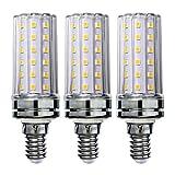 Sagel E14 LED Mais Birne, 12W LED Kerzenleuchter Glühbirnen 100 Watt Äquivalent, 1200lm, Warm Weiß 3000K LED Kronleuchter Lampen, Sockel E14, Nicht Dimmbare LED Lampe, 3er Pack