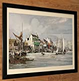 Prospect of Whitby - Rowland Hilder print - 20''x16'' frame, coastal wall art