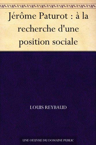 Couverture du livre Jérôme Paturot : à la recherche d'une position sociale