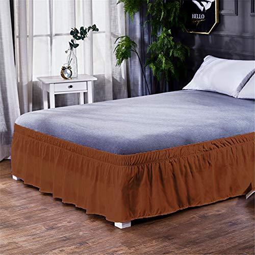 WENXIAOXU Weiche blätter Bett schoner Bezug mit Nässeschutz,Schutz Warm Atmungsaktive schoner Baumwolle WasserundurchFreizeit Anti-Allergisch,Faltenbett Rock A-10 135 * 200+40cm