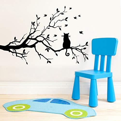 Katze wandaufkleber ast wandaufkleber für wohnzimmer schlafzimmer hintergrund aufkleber Wohnkultur Wanddekor Kinderzimmer