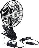 All Ride Auto/LKW-Ventilator 6' schwarz mit Klemmfuß 12V