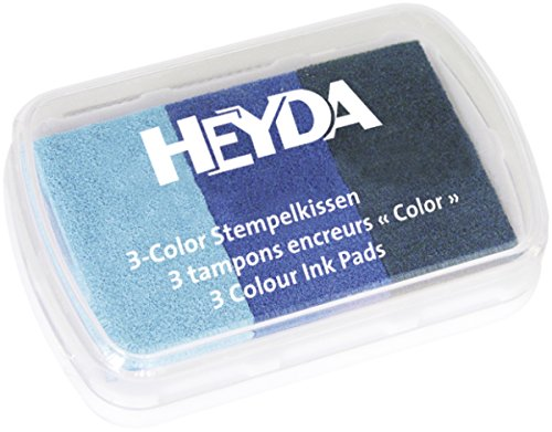 Baier & Schneider Stempelkissen, 60x30, Blautöne