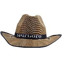 Dantiya-moda uomini cappello di paglia capello da cowboy ,taglia unica adulto (blu scuro)
