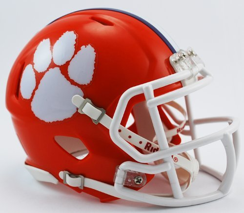 RIDDELL - CLEMSON TIGERS DE FUTBOL AMERICANO SPEED MINI CASCO