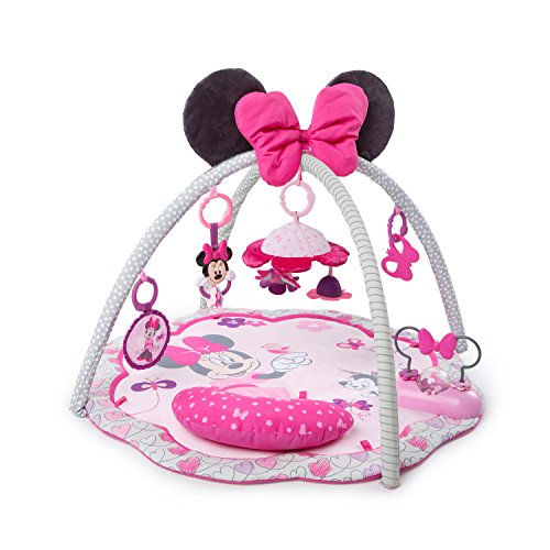 Disney Baby 11097 Minnie Mouse Garden Fun Activity Gym Spieldecke, rosa