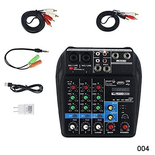 Fishyu Mini USB Audio Mixer Verstärker Verstärker Bluetooth Board 48V Phantomspeisung 4 Kanäle für DJ-Karaoke