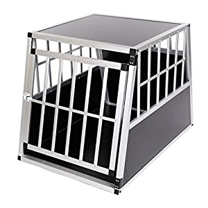 Zoomundo Cage De Transport Pour Chien Caisse Boite Mobile Box Aluminium 1 Porte Premium