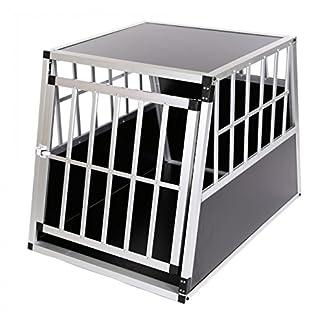 ZOOMUNDO ALUMINIUM DOG PET CAR TRANSPORT BOX 1-DOOR CARGO CAGE CARRIER PREMIUM 7