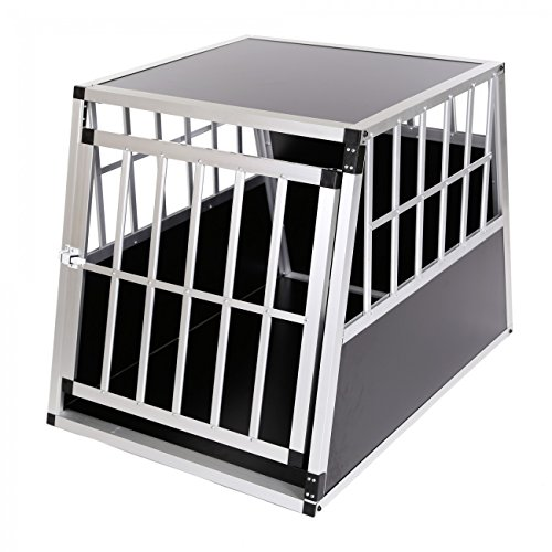 Price comparison product image ZOOMUNDO ALUMINIUM DOG PET CAR TRANSPORT BOX 1-DOOR CARGO CAGE CARRIER PREMIUM