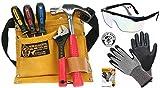 Corvus Kids At Work Kinder-Werkzeug-Set mit Schutzbrille, Handschuh Schnitthemmend GR. 6-S und Werkzeuggütel 02 mit Zubehör 3er Set