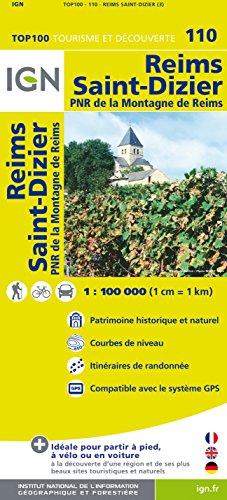 Top100110 Reims/St-Dizier 1/100.000 par Ign