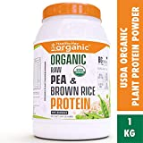 HealthyHey Organic USDA Raw Pea & Brown Rice Protein Isolate - 100% Plant