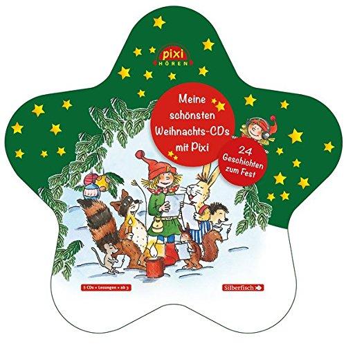 Preisvergleich Produktbild Pixi Hören: Meine schönsten Weihnachts-CDs mit Pixi: 24 Geschichten zum Fest : 5 CDs